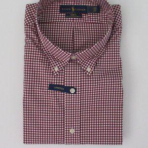 Ralph Lauren LS Gingham Plaid Dress Shirt 2xl NEW